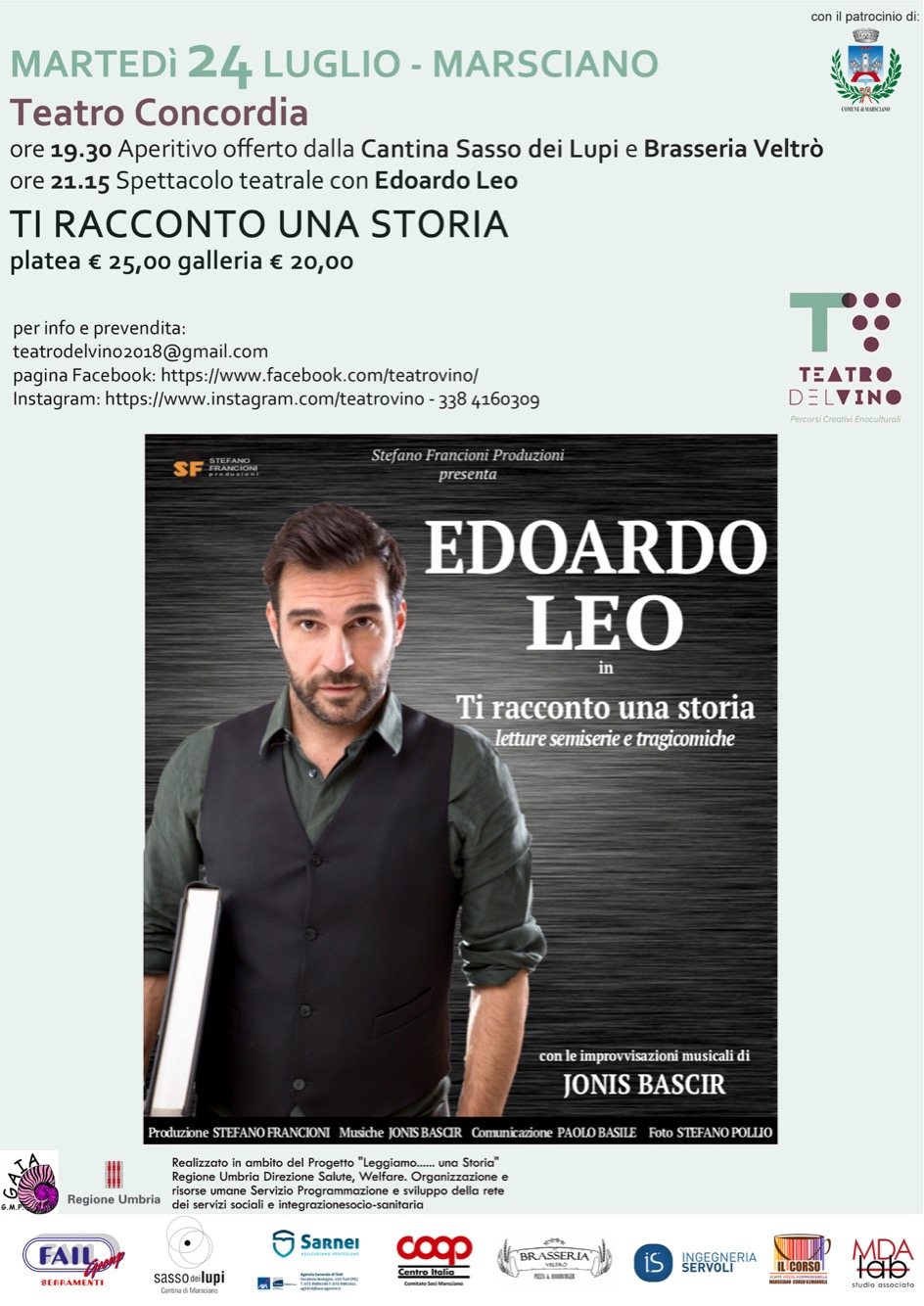 Edoardo Leo a Marsciano (Pg)